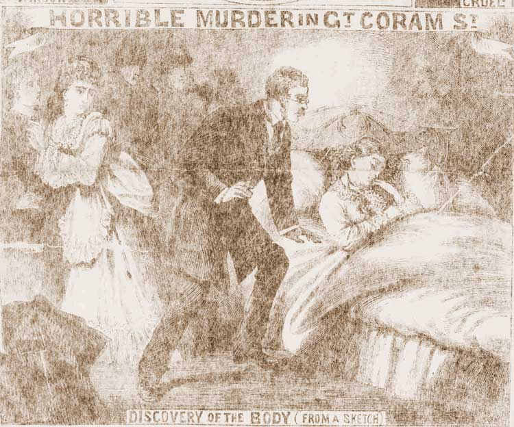 Finding the body of Harriet Buswell in her bed.