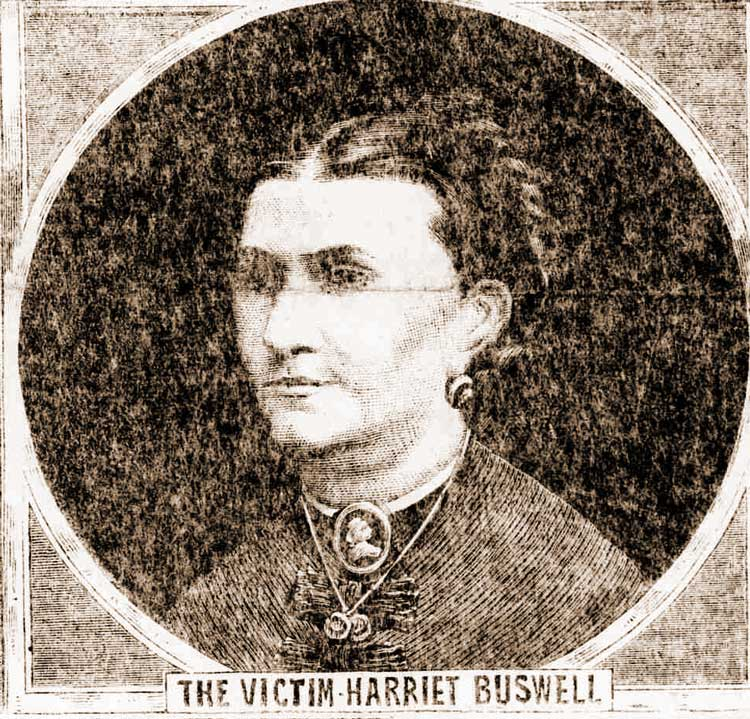 A portrait of Harriet Buswell.
