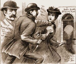 A sketch showing the attack on Emily Smith.