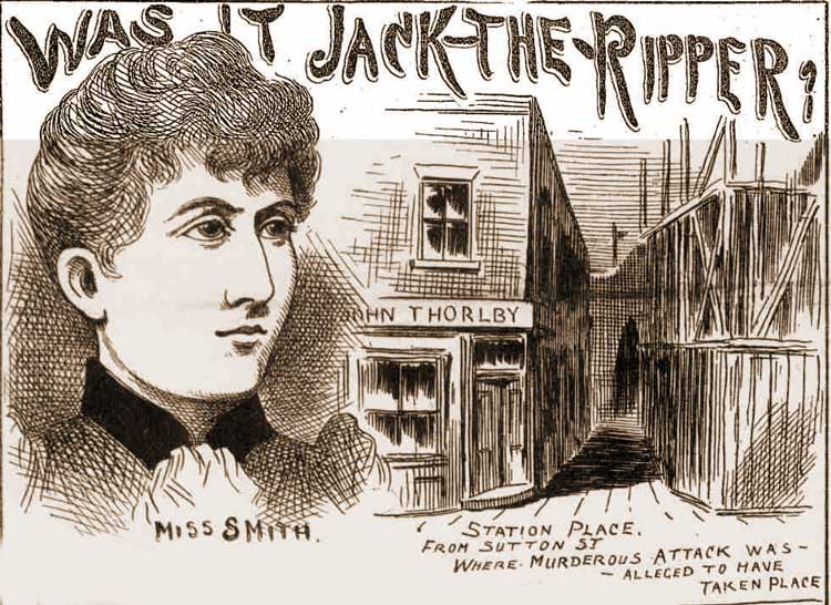 A sketch showing Emily Smith and the location where the attack took place.