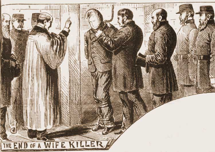 An illustration showing the execution of William Bury.