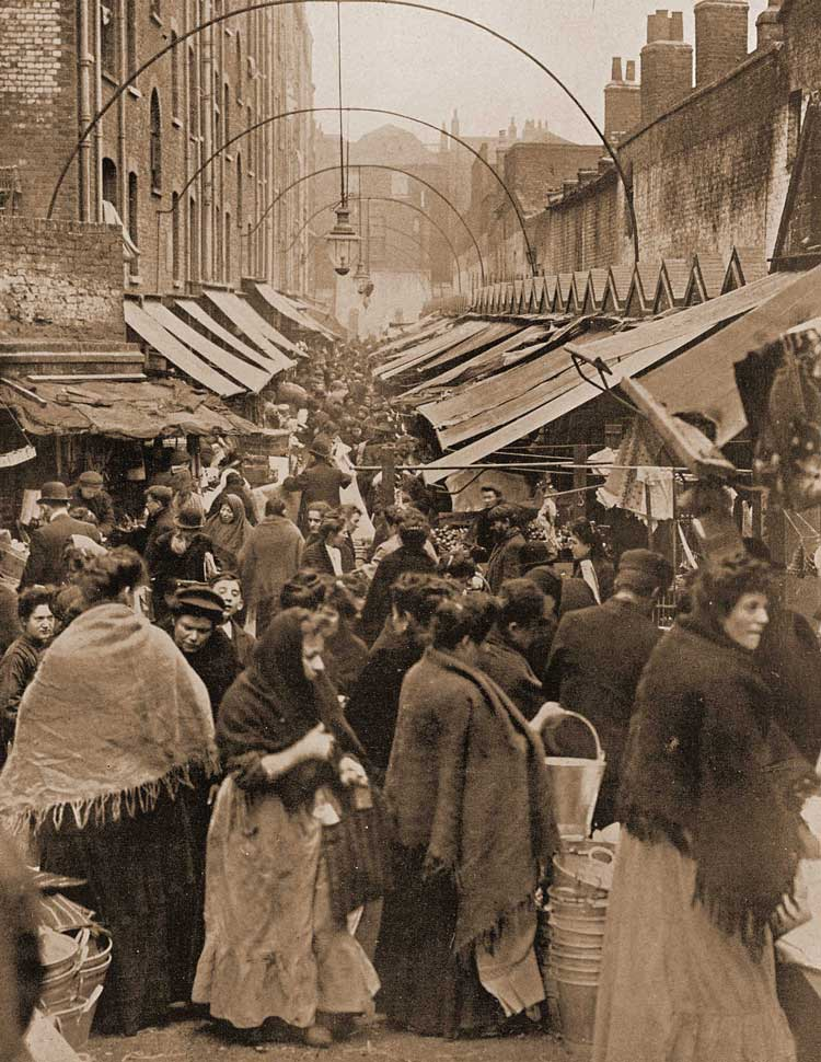 A view of Wentworth Street Market.