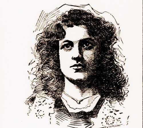 A newspaper portrait of Julia Morrison.