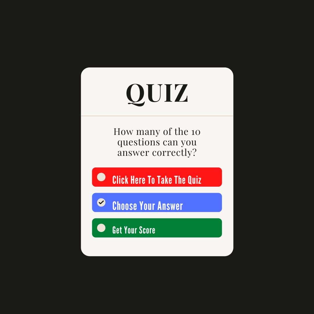 A Quiz button asking you to click here.